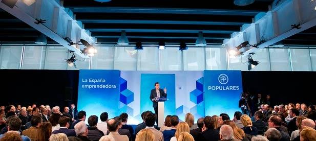 """Rajoy ha recordado que """"por cada dos puestos de trabajo que se pierden en ese mundo de ayer previo a la digitalización, se crean cinco nuevos empleos en la economía de internet""""."""