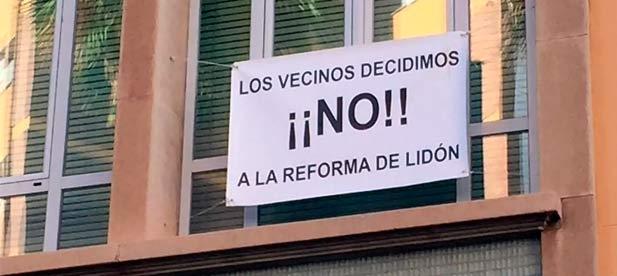 El 'no' que han expresado los vecinos de manera reiterada al proyecto de Amparo Marco para la avenida Lidón demuestra que el modelo de ciudad no es válido.