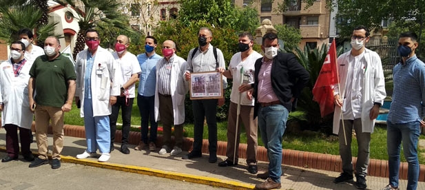 Diputados provinciales del PP arropan a los profesionales que han sido contratados durante la pandemia para salvar vidas y que el Gobierno del PSOE despide el próximo lunes