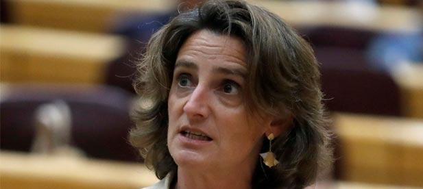 La ministra Teresa Ribera fue la impulsora de este proyecto que ha supuesto una ruina y uno de los peores castigos para el norte de la provincia de Castellón