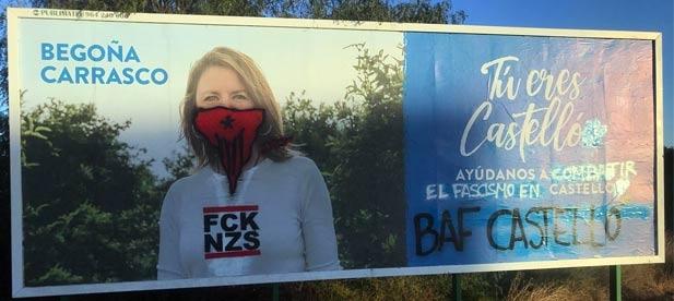 """Carrasco: """"Los mismos que campan a sus anchas, con el beneplácito y el consentimiento de los responsables políticos del bipartito de PSPV y Compromís, han vuelto a hacer de las suyas, pero ni nos van a callar ni nos van a parar"""""""